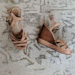 Frye Platform Wedge Sandals